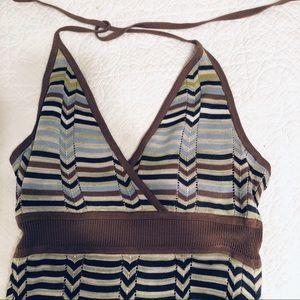 BCBG Maxazria Maxi Knit Chevron Dress